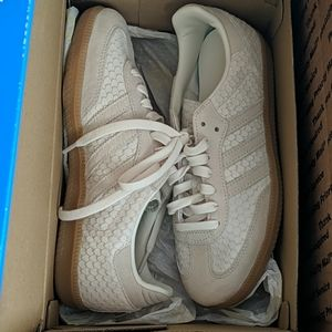 New Adidas OG Chalk White Samba Leather